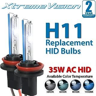 XtremeVision AC HID Xenon Replacement Bulbs - H11 10000K - Dark Blue (1 Pair) - 2 Year Warranty