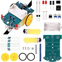 ICStation Line Tracking Smart Robot Car Electronic DIY Assemble Soldering Kit w/ English Instruction for School Competition