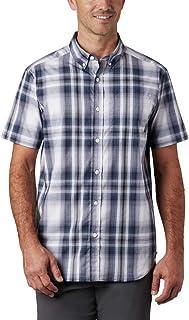 Columbia Men's Rapid Rivers Ii Short Sleeve Plaid Shirt, Comfort Stretch Button