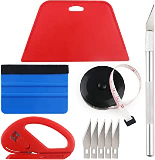 Wallpaper Smoothing Tool Kit Include black tape measure,red squeegee,medium-hardness..