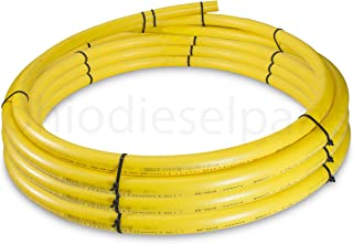 1 Inch CTS Yellow Medium-Density Poly Pipe Line for Gas Distribution PE2708 (60 Feet)