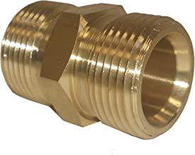 Ultimate Washer 1871D M22 Metric Hose Fitting Connector for High Pressure Washer Gun and Hose 5000 PSI Rated