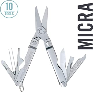 LEATHERMAN - Micra Keychain Multitool with Spring-Action Scissors and Grooming Tools