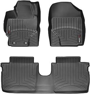 WeatherTech Alfombrilla a Medida para Toyota Yaris No-Hybrid XP130 2011-15|Negro|1a y 2a Filas
