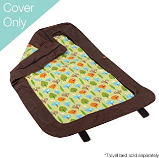 Leachco BumpZZZ Travel Bed Cover (COVER ONLY), Brown/Green Forest Frolics