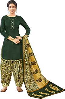 Jevi Prints Women's Cotton Printed Stitched Readymade Punjabi Suit With Dupatta (CP-174)