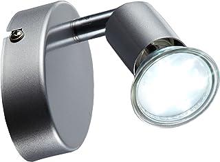 B.K.Licht Lámpara de techo orientable incl. 1 bombilla LED GU10 de 3 W I Color de la luz blanco cálido 3000K I Metal I IP2...