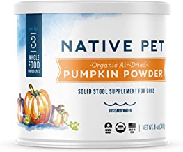 Native Pet Organic Pumpkin for Dogs (8 oz, 16 oz) – All-Natural, Organic Fiber for..