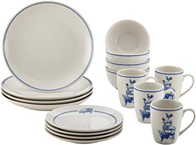 Paula Deen Stoneware Dinnerware Set, Large, Off-White