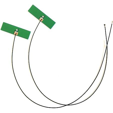 WiFi 無線LAN用 PCBアンテナ 5DBi 2.4G/5G デュアルバンド MHF4 2本セット