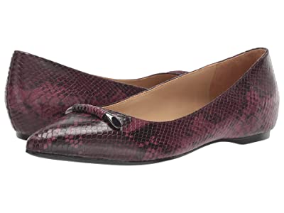 Naturalizer Sable (Burgundy Snake Print Leather) Women
