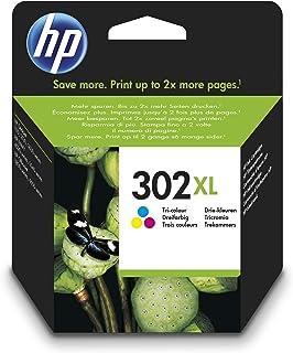 HP 302XL F6U67AE, Cartucho de Tinta Original de alto rendimiento,Tricolor, Compatible con impresoras de inyección de tinta HP DeskJet 1110,2130,3630; ENVY 4520; OfficeJet 3830,4650,5220,5230
