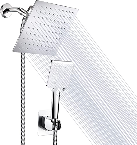 popular Shower Head, MIBOTE 8 Inch High Pressure Rainfall Shower Heads / Handheld Showerheads Combo, Stainless sale Steel Bath 8'' Shower Head With Holder, lowest 60 Inch Hose, Anti-leak, Chrome outlet online sale