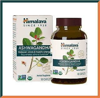 Himalaya High Strength Ashwanghanda (Ginseng Indio), Aprobado por USDA   Producto natural para el Estrés y la Energía   4,...