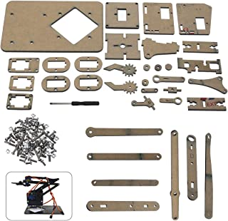 Robot Arm Kit Tool Parts DIY Robot Arm Claw For Arduino Kit Mechanical Grab Manipulator Assembled Gifts For DIY