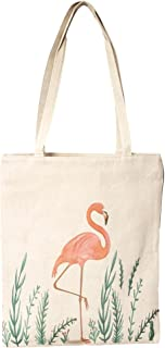 100% Cotton Eco Friendly Flamingo Print Tote