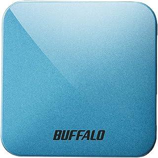 BUFFALO 無線LAN親機 11ac/n/a/g/b 433/150Mbps トラベルルーター ターコイズブルー WMR-433W2-TB