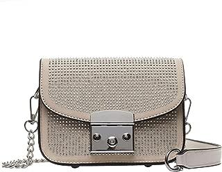 Diamond Studded Shoulder Chain Bags Wild Pu Handbag Bags for Women 2018 Hand Bag Mystic Messenger