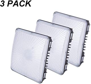 3 Pack JLLEAD Led Gas Station Light UL DLC Listed 100W 5700K Water Proof ip65 LED Canopy Light Commerical Grade Outdoor High Bay Balcony Carport Driveway Ceiling Light