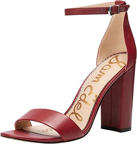 Sam Edelman Wohommes Yaro Heeled Sandal, Dark Cherry Cherry Cherry Leather, 5.5 M US 543