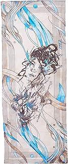 R. Culturi 意大利手工制作丝绸雪纺奢华艺术品 围巾包装(米色/蓝色)礼盒