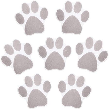 Mudder Pegatinas de Bañera Antideslizantes Calcomanías Adhesivas(20 Piezas Pata de Perro)