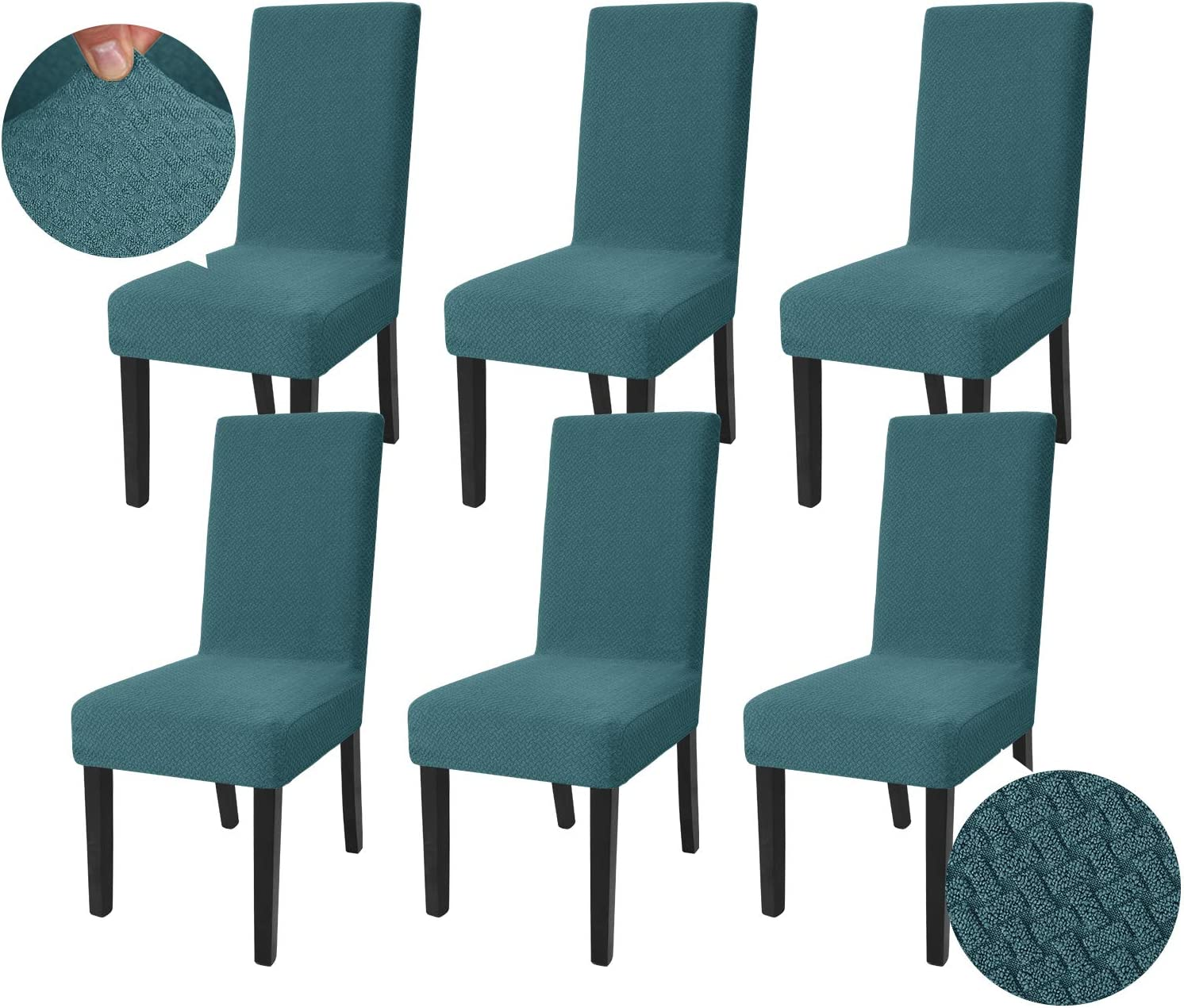 JIVINER Stretch Long Beach Mall Chair Save money Covers for Dining 6 Room Set of Decorative