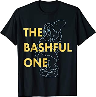 Snow White The Bashful One Outlined Graphic T-Shirt