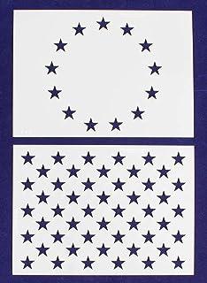 image regarding American Flag Star Stencil Printable known as : union star stencil