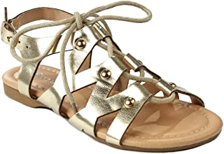 Calie06 Kids T-Strap Rhinestone Cutout Stretchable Slingback Flat Thong Sandal Shoes