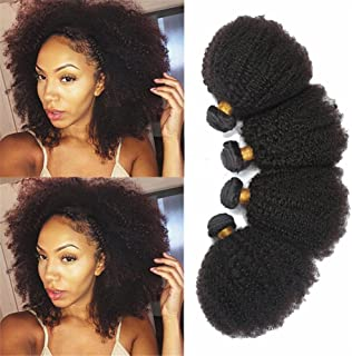 """Remeehi Double Weft 6A Kinky Curly Virgin Human Hair Curly Weave Human Hair Weft Extensions 10"""""""