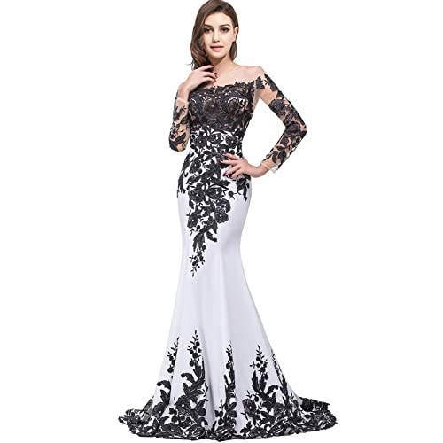 White And Black Wedding Dress Amazon
