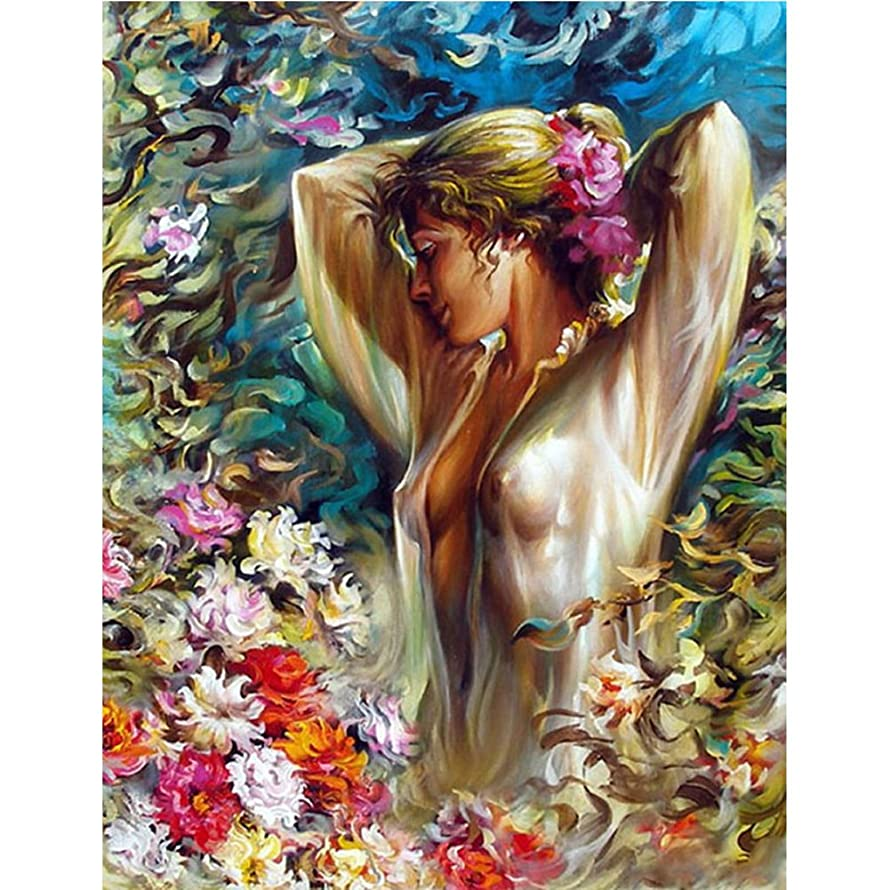 Beauty Women DIY Diamond Painting Full Square Drill Embroidery Rhinestone by Number Kit for Wall Decoration Sticker