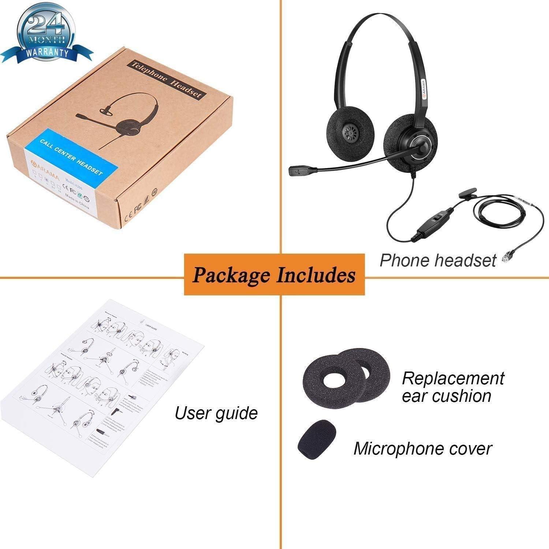Arama Auricular de telfono RJ9 con cable y micrfono con ...