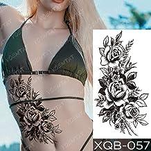 JXAA Etiqueta engomada del Tatuaje a Prueba de Agua Wolf Tree Rose Moon Tattoo Fox Clock Flower Body Art Manga del Brazo Mujeres Hombres 10-XQB057