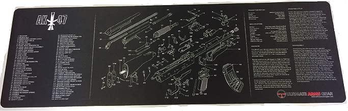 Ultimate Arms Gear Gunsmith/Armorer's Cleaning Work Tool Bench Gun Mat For The Kalashnikov AK47 AK-47 AK 47 7.62x39mm Rifle