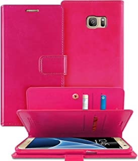 For Samsung Galaxy S10 Plus Case, Goospery Leather Wallet with Multi Pockets and Card & Cash Slot Case, Rose Red
