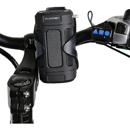 Portable Bluetooth 4.0 Speaker by CLEARON – Wireless Waterproof Speaker with Bike Mount & Remote – Premium Sound Quality & Loud 8W Mini Speaker – 15 Hours of Playtime & 100 ft Range (Black)
