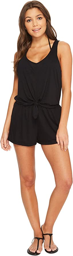 BECCA by Rebecca Virtue Breezy Basic Knot Romper Cover-Up