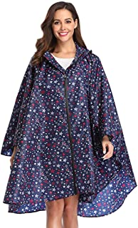 Summer Mae Chubasqueros Mujer Impermeable Reutilizable Poncho Impermeables Chaquetas Capa Lluvia Nieve para Mujer