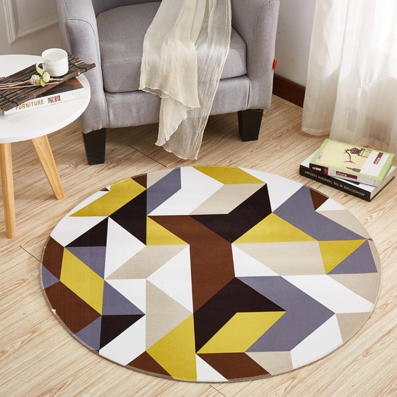 Computer Chair mat for Carpet,Round Floor mat Round Carpet Swivel Chair mat Hanging Basket mat-F diameter160cm(63inch)