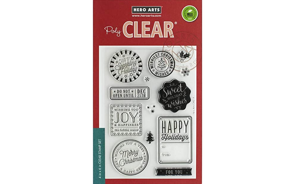 Hero Arts Holiday Badges Stamp