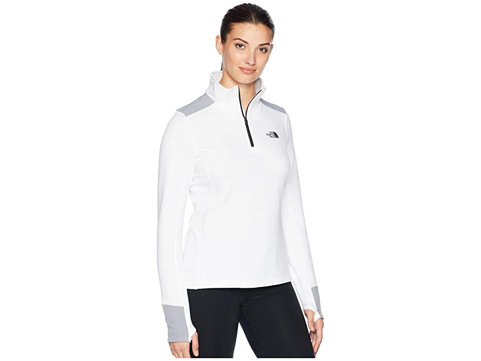 The North Face Shastina Stretch 1/4 Zip (TNF White/Mid Grey) Women
