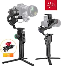 Moza-Aircross-2-3-Axis-Handheld-Gimbal-Stabilizer with Carrying Case, Up to 7.1 lbs 8 Follow Modes Auto-Tuning for DSLR Mirrorless Cameras with Heavier Lens, Multi-Function Ballhead Mount Included