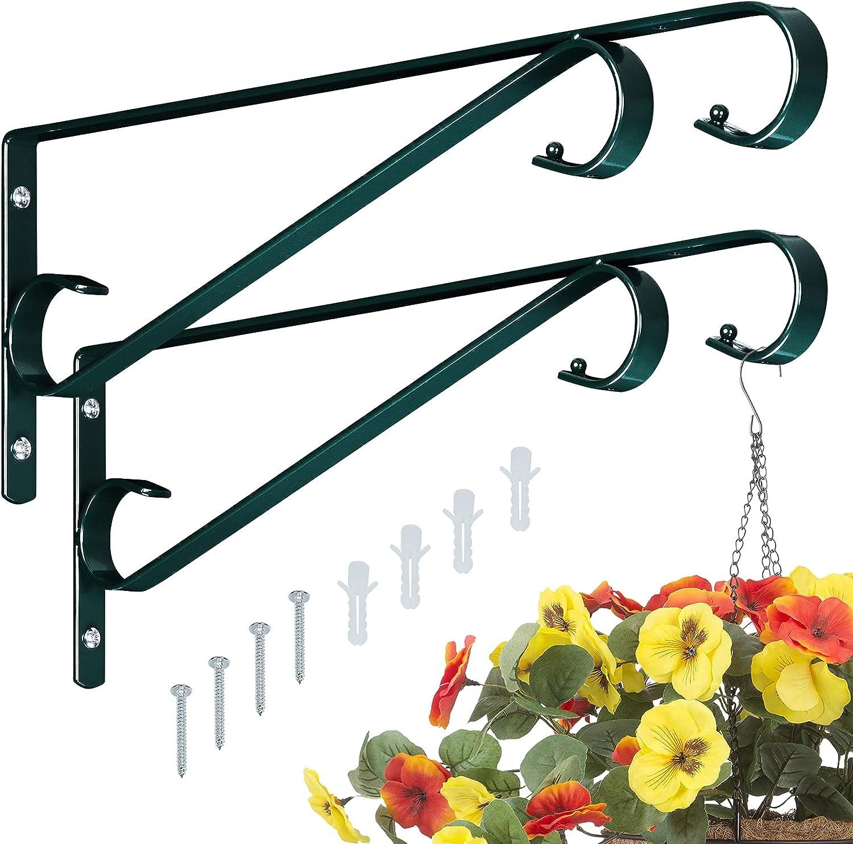 Sanduby Plant Hangers Superlatite Outdoor 2 Hooks Inch 15.5 Metal Pack Manufacturer OFFicial shop