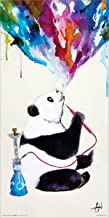 Culturenik Marc Allante Panda Smoking a Hookah Modern Contemporary Animal Decorative Art Print (Unframed 12x24 Poster)