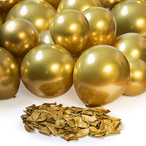 lowest Royal new arrival Imports Gold Chrome Latex Balloons for Party Decoration, Birthday lowest Supplies, Wedding Arch, 100 Pieces, Helium or Air (14 Inch) online sale