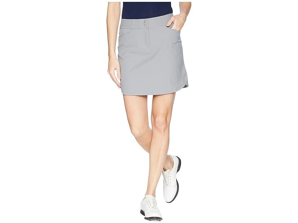 adidas Golf Essentials 3-Stripe Skort (Grey Three) Women