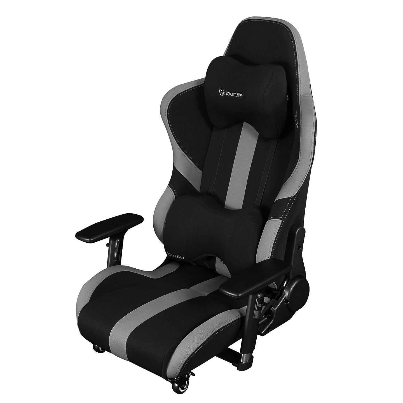 血まみれワイド地下鉄Bauhutte (バウヒュッテ) ゲーミングチェア プロシリーズ ゲーミング座椅子 リクライニング 4D稼働アームレスト採用 LOC-950RR-BK