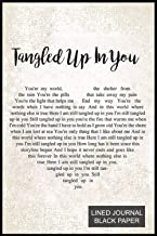 Black Paper Lined Journal For Gel Pens Or White Ink: Tangled up in you lyric quotes